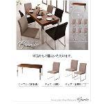 ラグジュアリーモダンデザインダイニングシリーズ【Granite】グラニータ/7点セット (テーブルカラー:ウォールナット) (チェアカラー:ミックス)