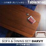 ソファ&ダイニングセット【DARVY】ダーヴィ/テーブル(W160cm) (カラー:ウォールナット)