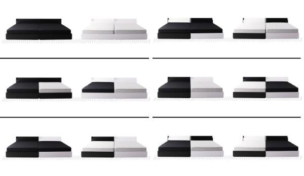 モノトーンワイドキングベッド【BAXTER】バクスターのカラーの組み合わせ