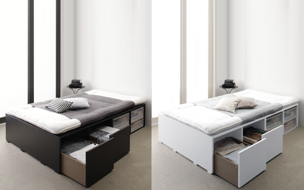 大容量収納ベッド【Semper】センペール
