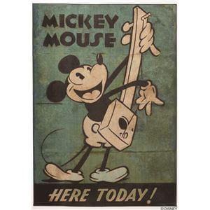 DISNEY DRM-1034ラグ MICKEY/Music RUG 100×140cm グリーン