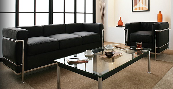ル・コルビジェ 伝説のソファ 黒ブラック