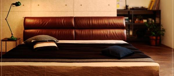 男前ベッド レザーベッド