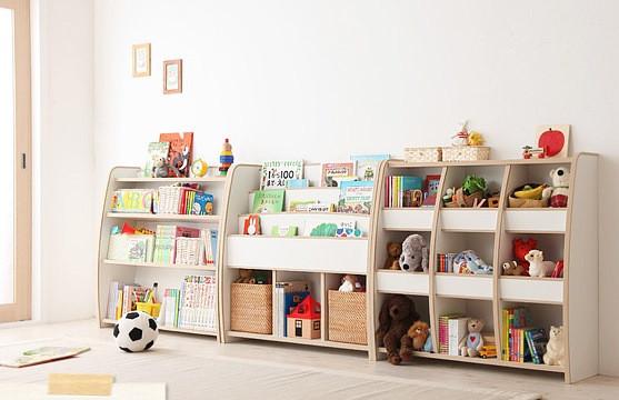 シンプルな絵本棚・おもちゃ箱