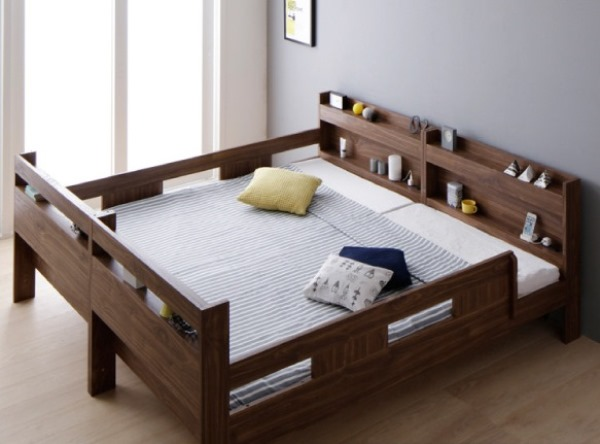 2段ベッドにもなるワイドキングサイズベッド【Whentoss】ウェントス ワイドで使用