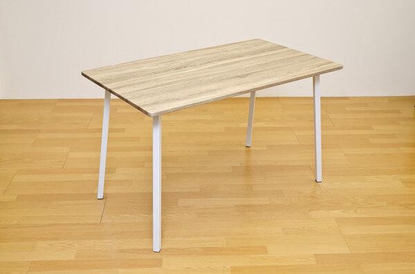 スチールレッグ 木目調テーブル ナチュラル