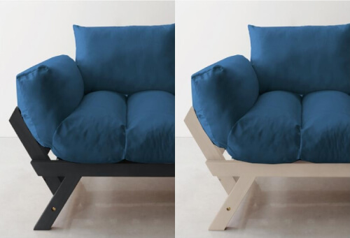 天然木パイン材フレームのソファー【Lapua】ラプア フレームダークブラウン