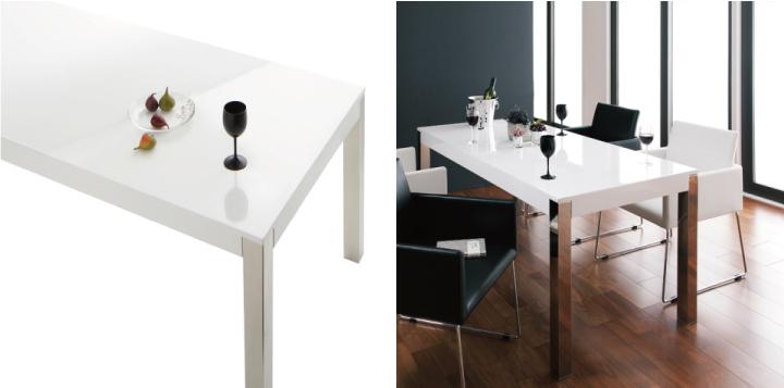 イームズチェアと合わせたい白いテーブル