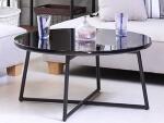 円型鏡面テーブル ブラック