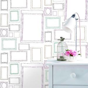 壁紙シール フレーム カラー