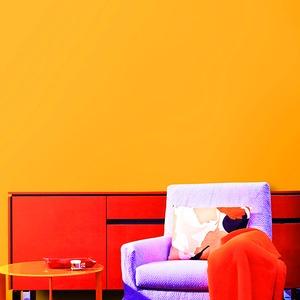 壁紙シール オレンジ