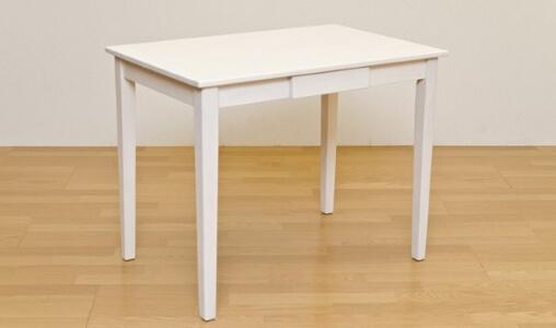 木製テーブル ホワイトウォッシュ