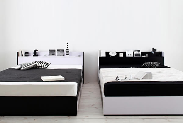 シンプルモダンモノトーン収納ベッド