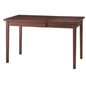 伸長式ダイニングテーブル【幅75/120cm】ウォールナット
