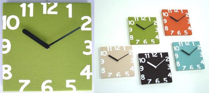 グリーンの壁掛け時計