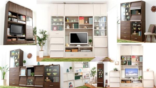 いろいろ組み合わせができる収納家具