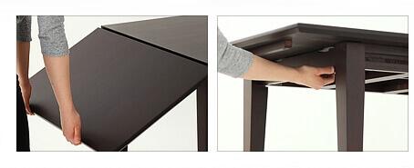 伸長式ダイニングテーブル【Swallow】スワロー 伸長方法
