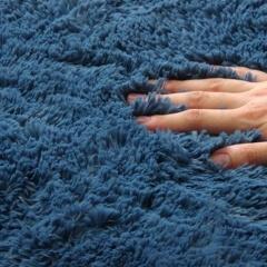 マイクロファイバーフィラメントラグ ブルー