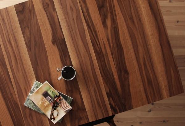 天然木ウォールナットエクステンションテーブル