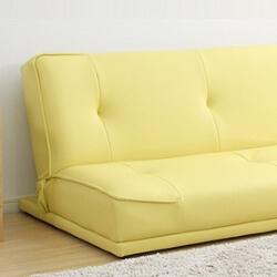 黄色いソファーベッド