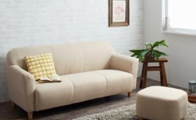アイボリーのソファー