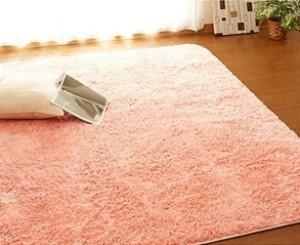 ベビーピンク さらふわシャギーラグマット