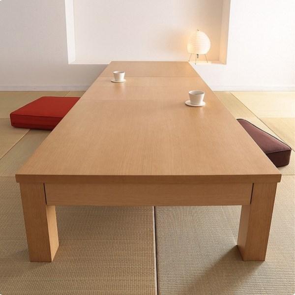 和室に置いた伸長式ローテーブル