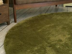 大人カラーのラグ モスグリーン直径130cm