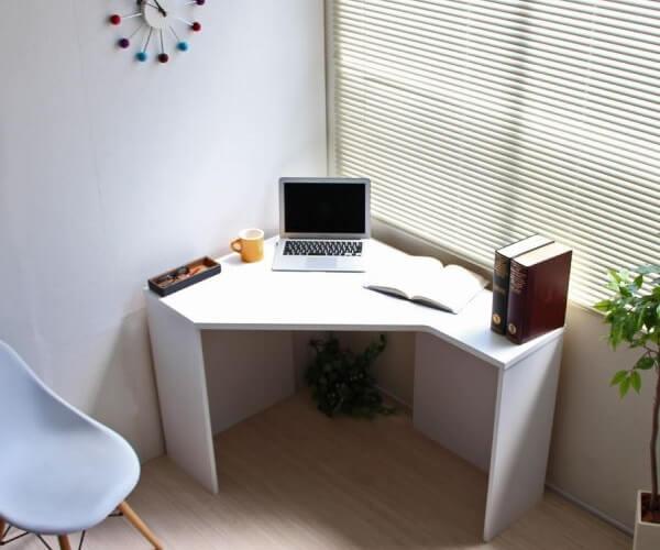 パソコンコーナーデスク ホワイト