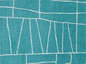 ラグマット『ジオーニ』ターコイズ 190×190cm