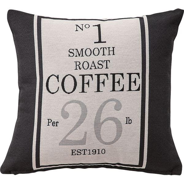プリントクッション コーヒー袋柄