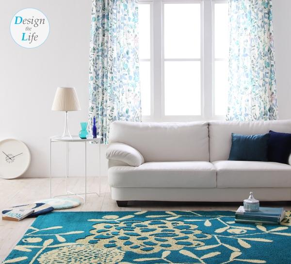 デザインカーテン【flora】フローラ・デザインラグ【Petala】ペターラ
