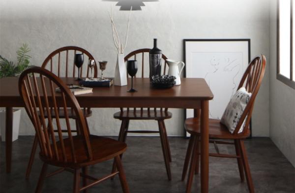 アンティーク調ウィンザーチェア ウォールナットダイニングテーブル【Oakham】オーカム