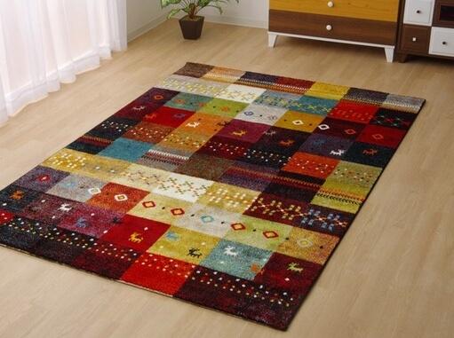 トルコ製 ウィルトン織り カーペット グリーン