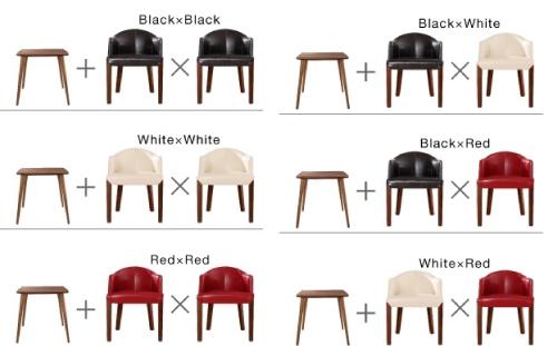 ダイニングテーブル【Patrie】パトリの椅子の色