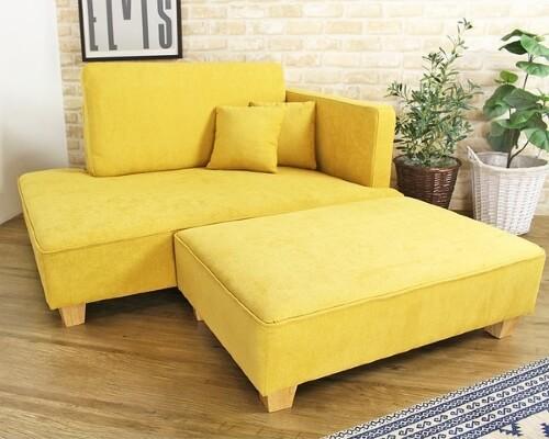 黄色いソファmoanaモアナ