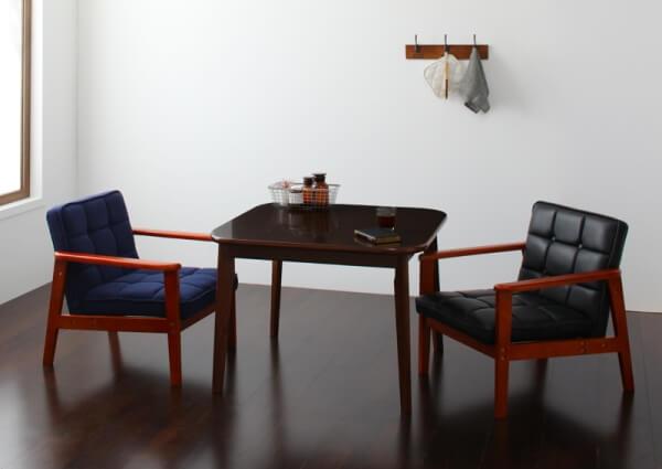 90cmウォールナットテーブル ソファダイニングセット【DARVY】ダーヴィ