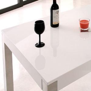 160cmラグジュアリーモダンデザインダイニングテーブル【Granite】グラニータ ホワイト
