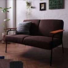 ファブリックとスチールのソファ【JORTUS】ジョータス 2人掛け