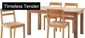 ダイニングテーブルとチェア【Timeless Tender】タイムレステンダー