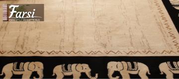 ベルギー製 アジアンテイスト モケット織りデザインラグ【Farsi】ファーシ