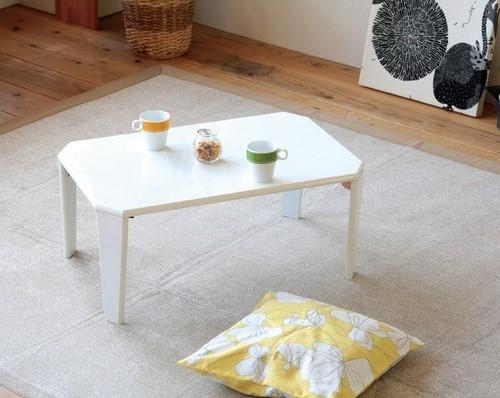 白いローテーブル