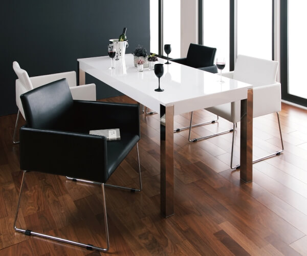 白のダイニングテーブル【Graniel】グラニエル