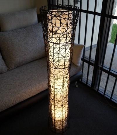 フロアライト 竹製アジアンテイスト スリム