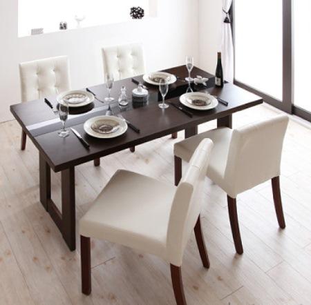 白いチェアのダイニングテーブル【MODERNO】モデルノ