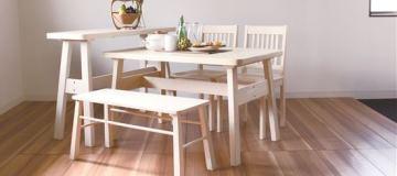 木製ブラッシングダイニングテーブル【BERG】ベルク