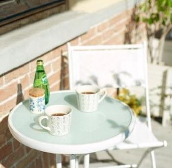 コンパクト ガーデンテーブル【Barolo】バローロ ホワイト