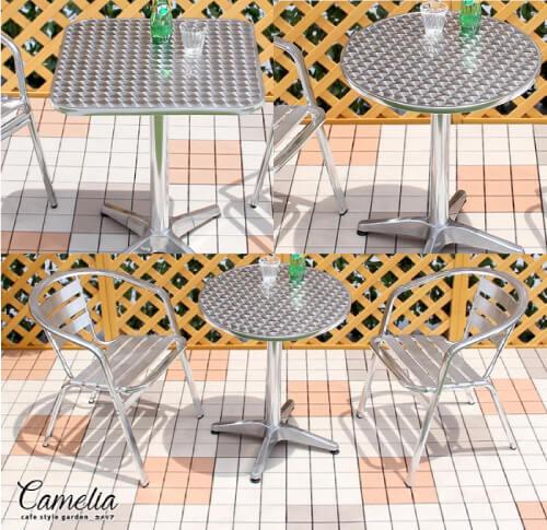 アルミガーデンテーブル【CAMELIA】カメリア