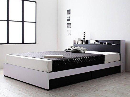 モノトーンモダンデザイン収納付きベッド【MONO-BED】モノ・ベッド