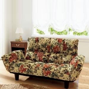 花柄リクライニングソファ